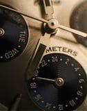Macro dell'orologio Fotografie Stock