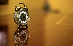 Macro dell'orologio dettagliata Immagini Stock Libere da Diritti