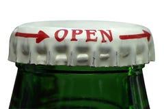 Macro della bottiglia da birra Immagine Stock