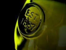 Macro della bottiglia di whisky Fotografie Stock