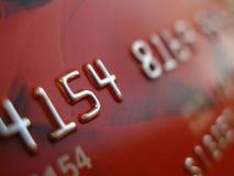 Macro della carta di credito Immagini Stock Libere da Diritti