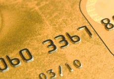 Macro della carta di credito fotografie stock