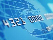 Macro della carta di credito Immagine Stock