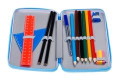 Macro della cassa di matita Fotografie Stock Libere da Diritti