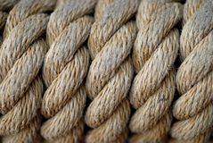 Macro della corda Fotografie Stock