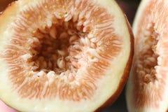 Macro della frutta del fico fotografia stock libera da diritti
