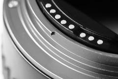 Macro della matrice del sensore della macchina fotografica del fotografo fotografia stock