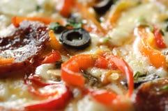 Macro della pizza Immagini Stock Libere da Diritti