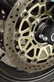 Macro della rotella dell'oro Fotografia Stock