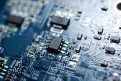 Macro della scheda di PC. Fotografie Stock