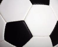 Macro della sfera di calcio Immagine Stock