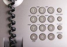 Macro della tastiera del telefono Fotografia Stock
