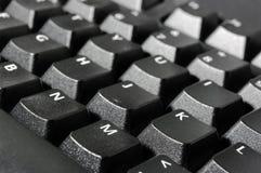 Macro della tastiera di calcolatore Immagini Stock Libere da Diritti