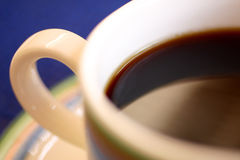 Macro della tazza di caffè Fotografie Stock Libere da Diritti