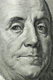 macro des 100 dollars Images libres de droits