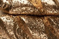 Macro des grains d'or de pain image stock