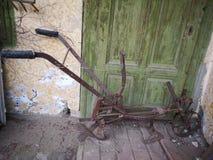 Antique horse drawn plow stock photos