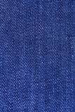 Macro Detail of blue jeans fabric Stock Image