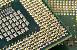 Macro detail of central processor unit Royalty Free Stock Images
