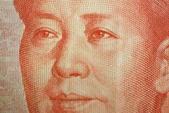 Detail of a Chinese one hundred rmb note bill showing the face p Royalty Free Stock Images