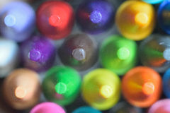 Macro detail of colorful wax crayon colors Royalty Free Stock Photo
