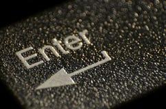 Macro detail of Enter key. Macro detail of black Enter key on keyboard Stock Photography
