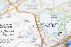 Macro Detail of OS Map Royalty Free Stock Photos