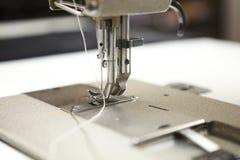 Macro detail of professional sewing machine Stock Photo