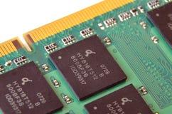 Macro detail of RAM memory. Macro detail of random access memory (RAM) memory Royalty Free Stock Photos