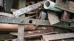 Rusty metal pipes stock photos