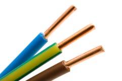 Macro detail van een kabel Stock Afbeeldingen
