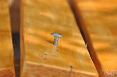 Wood screw. Macro detail of a wood screw Stock Photos
