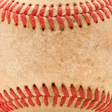 Macro Detail of Worn Baseball Stock Photos