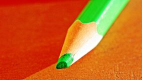 Colored Pencil sharpened tip close-up Stock Image