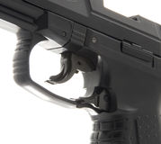 Macro Details of Pistol Trigger Stock Photo