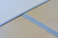 Macro details of traditional Japanese Tatami floor mats. In horizontal frame Stock Image