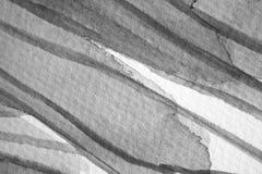 Macro dettagli e strutture in bianco e nero dell'acquerello immagini stock libere da diritti