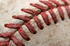 Macro di baseball Fotografie Stock