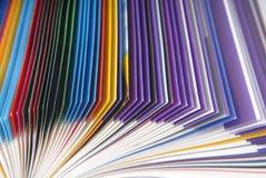 Macro di carta di struttura della rivista Fotografie Stock