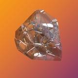 Macro di cristallo variopinta stupefacente del primo piano del mazzo di Diamond Quartz Rainbow Flame Blue Aqua Aura su fondo aran Fotografia Stock