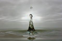 Macro di goccia dell'acqua immagini stock libere da diritti
