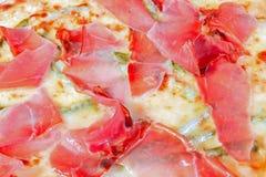 Macro di pizza Fotografie Stock Libere da Diritti