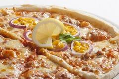 Macro di pizza deliziosa Immagini Stock Libere da Diritti