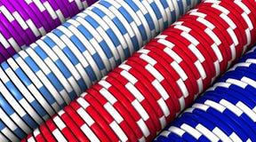 Macro di riga dei chip Fotografia Stock
