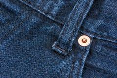 Macro di struttura del fondo dei jeans Fotografia Stock Libera da Diritti