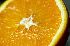 Macro di un arancio immagini stock