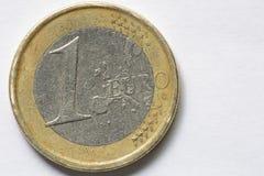 Macro di un euro Fotografia Stock Libera da Diritti
