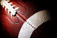 Macro di un football americano Fotografia Stock Libera da Diritti