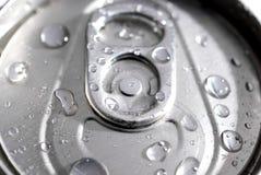 Macro di una latta di soda fotografie stock libere da diritti