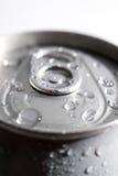 Macro di una latta di soda Fotografia Stock Libera da Diritti